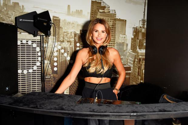 Vogue Williams attends the opening of The O2's new shopping destination ICON Outlet on October 18, 2018 in London, England. (Photo by David M. Benett/Dave Benett/Getty Images for The O2 ICON)