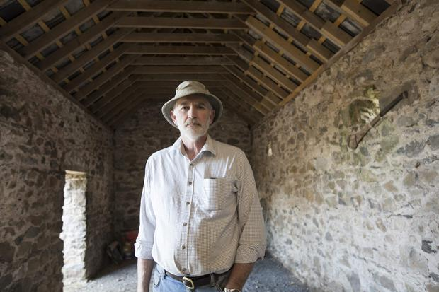 William Hunter in the old piggery on his farm at Ballylooby, Cahir, Co Tipperary. Photograph Liam Burke