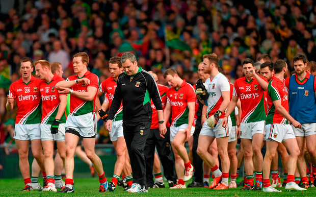 In contrast, James Horan (pictured) has several of the same faces from the last time he was in the role. Photo: Sportsfile