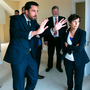 Vision: Housing Minister Eoghan Murphy talks to Margaret Geraghty, director of the housing and community department at Fingal County Council, during the visit to the Fingal homes. Photo: Shane O'Neill, SON Photographic