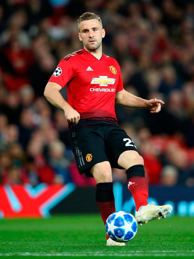 Luke Shaw (pictured) and Jesse Lingaard have recently signed new deals that will earn them millions in the coming years. Photo: Getty