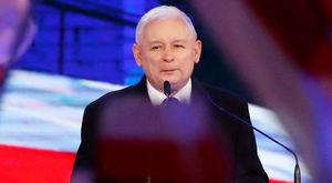 Controversy: Jaroslaw Kaczynski, leader of the ruling Law and Justice party (PiS), delivers a speech in Warsaw, Poland. Photo: Reuters