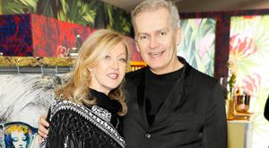 Louise Kennedy and John Redmond at the launch of 'The Lost Warhols' in Brown Thomas. PIcture: Kieran Harnett