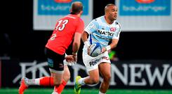 Simon Zebo of Racing 92 in action against Will Addison of Ulster during the Heineken Champions Cup Pool 4 Round 2 between Racing 92 and Ulster at Paris La Defence Arena, in Paris, France. Photo by Brendan Moran/Sportsfile
