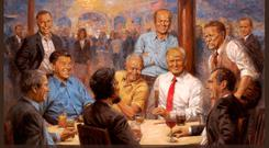 The new painting that Trump has hung in the White House