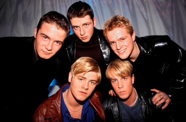 Westlife in their earlier days as a five-piece
