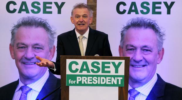 Presidential candidate Peter Casey. Photo: PA