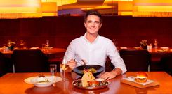 Irish chef Donal Skehan in a Virgin Atlantic Clubhouse lounge
