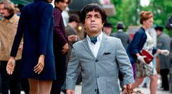 Peter Dinklage as Herve Villechaize in a scene from 'My Dinner with Herve'