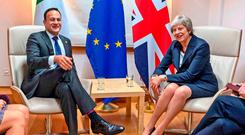 CRISIS looms: Leo Varadkar and Theresa May at a bilateral meeting in Brussels last Wednesday when nothing was again agreed. Photo: Taoiseach Government/PA Wire