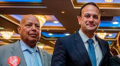 Close associations between Ireland and India: Leo Varadkar, pictured with his proud father Ashok, who some believe has had a huge influence on the Taoiseach. Photo: Arthur Carron