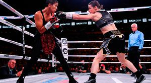 Katie Taylor, right, and Cindy Serrano