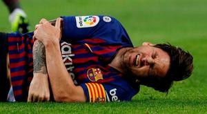Barcelona's Lionel Messi has been out with an arm injury. REUTERS/Albert Gea