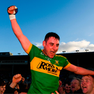 Michael Ryan of Clonoulty/Rossmore is lifted shoulder high as they celebrate their Tipperary SHC final victory at Semple Stadium yesterday. Photo: Sportsfile
