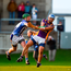 Ballyboden's Paul Doherty attempts to block Kilmacud Crokes' Ross O'Carroll during yesterday's Dublin SHC final at Parnell Park. Photo: Sportsfile