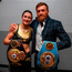 Conor McGregor poses with Katie Taylor following her WBA & IBF Female Lightweight World title bout against Cindy Serrano. Photo: Sportsfile