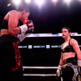 Katie Taylor taunts her opponent Cindy Serrano