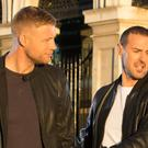 EDITORIAL USE ONLY (Left to right) Andrew 'Freddie' Flintoff, Paddy McGuinness and Chris Harris with a Porsche 911 GT2 RS and an Aston Martin DBS Superleggera at Billingsgate Market, London as they are revealed as BBC Top Gear's new presenting line-up, taking over the helm from Matt LeBlanc whose final series will air in early 2019 on BBC Two.