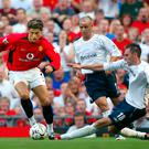 Cristiano Ronaldo makes his Manchester United debut against Bolton in 2003