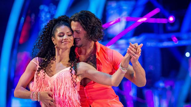 Vick Hope and her dance partner Graziano Di Prima (Guy Levy/BBC)