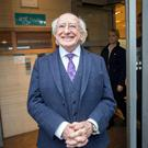 'President Higgins has glided seamlessly through a reversal of his 2011 promise to seek just one presidential term.' Photo: Tony Gavin
