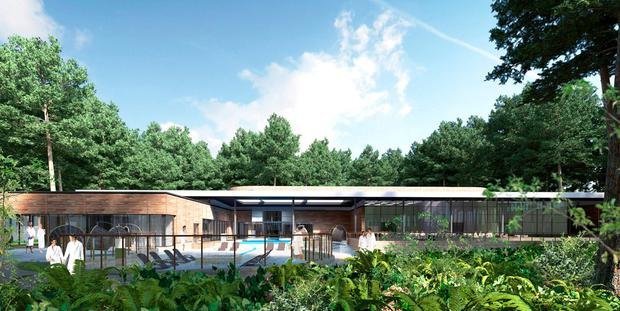 Lap of luxury: The Aqua Sana spa in Center Parcs in Longford will offer 14 treatment rooms, as well as a large number of other spa experiences