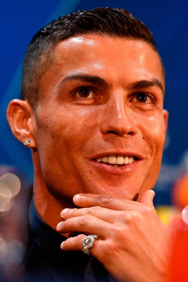 Cristiano Ronaldo's confidence has not been affected by off-field issues. Photo: OLI SCARFF/AFP/Getty Images