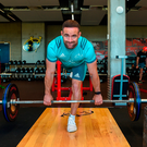 Alby Mathewson working out during a training session at the University of Limerick yesterday. Photo: Sportsfile