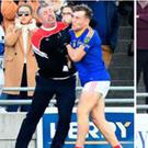 A Dingle mentor clashes with East Kerry player Dara Moynihan Pics: Domnick Walsh