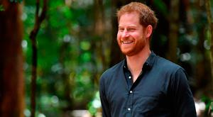 Britain's Prince Harry attends an event to unveil the Queen's Commonwealth Canopy plaque at Pile Valley on Fraser Island on October 22, 2018