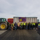 Farmers protest near Monageer, outside Enniscorthy on the M11 construction site.