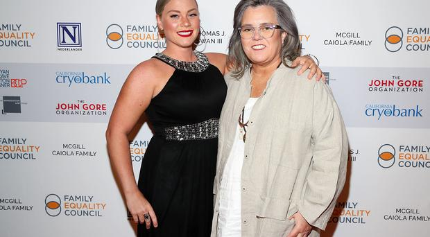 NEW YORK, NY - MAY 07: (L-R) Elizabeth Rooney and Rosie O'Donnell attend Family Equality Council's 'Night At The Pier' at Pier 60 on May 7, 2018 in New York City. (Photo by Astrid Stawiarz/Getty Images for Family Equality Council)