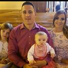 Daniel Gorry (28) pictured with his wife Rachel and three children, Leah (7), Holly (4) and Hannah (2)