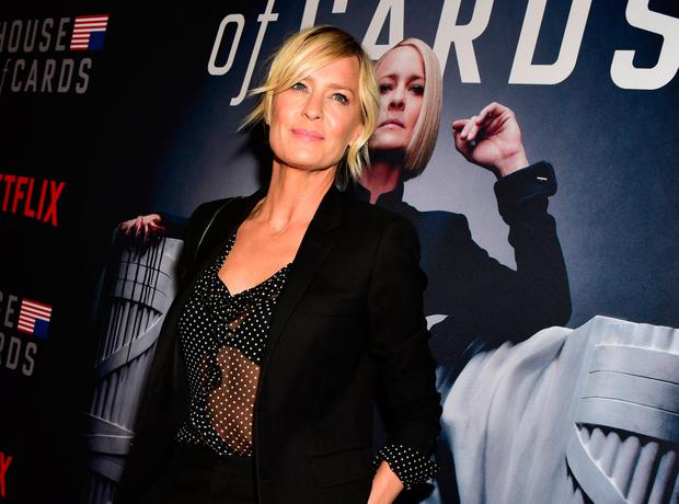 Robin Wright attends the Los Angeles premiere screening of Netflix's