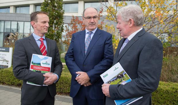 Andrew McConkey, Chairman, LacPatrick Dairies; Michael Hanley, CEO, Lakeland Dairies and Alo Duffy, Chairman, Lakeland Dairies.