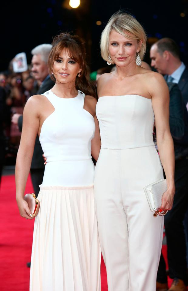 Cheryl Cole and Cameron Diaz attend the UK film premiere of 'What To Expect When You're Expecting' at BFI IMAX on May 22, 2012 in London, England. (Photo by Tim Whitby/Getty Images)