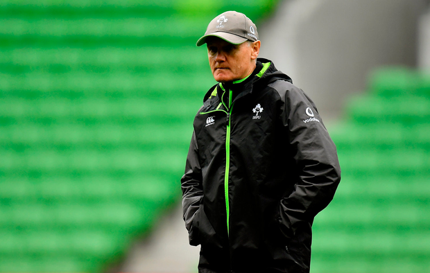 Head coach Joe Schmidt. Photo: Brendan Moran/Sportsfile