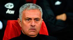Manchester United's Portuguese manager Jose Mourinho