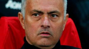 Mourinho walked to Old Trafford last night from the team hotel. Photo: Hannah McKay/Reuters