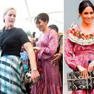 Meghan Markle was ushered out by a bodyguard at a market in Fiji