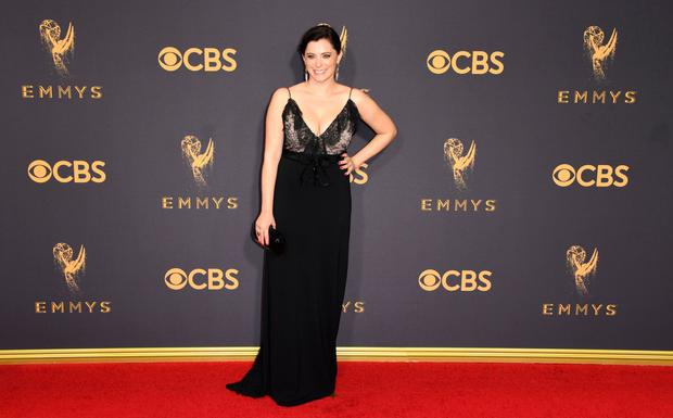 Rachel Bloom arrives for the 69th Emmy Awards at the Microsoft Theatre on September 17, 2017 in Los Angeles, California. / AFP PHOTO / Mark RALSTON
