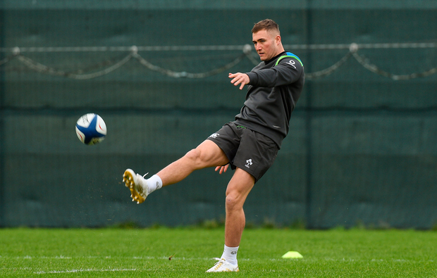 30 January 2018; Jordan Larmour during Ireland rugby squad training at Carton House in Maynooth, Co Kildare. Photo by Matt Browne/Sportsfile