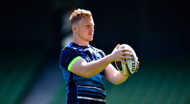 25 May 2018; James Tracy during the Leinster captains run at the Aviva Stadium in Dublin. Photo by David Fitzgerald/Sportsfile