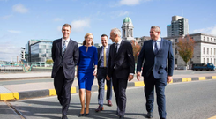 Managing partner Harry Fehily with partners Sandra Egan, Pat McInerney, Robert Bourke and John Ringrose at the opening of Holmes O'Malley Sexton Solicitors Cork office on South Mall