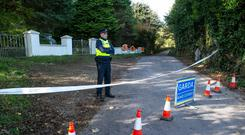 Scene of the fatal shooting of a 58 year old male in Raleigh ,Macroom Co Cork. Photo: Kyran O'Brien