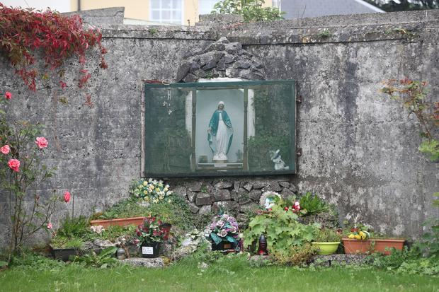 The mass burial site at Tuam in Co Galway (PA)