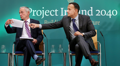 Minister for Communications Richard Bruton and Taoiseach Leo Varadkar face new challenges over the National Broadband Plan