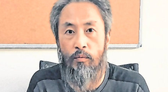 Safe: Journalist Jumpei Yasuda has been freed by Islamists