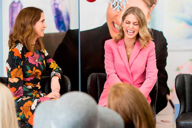 Amy Huberman pictured at Newbridge Silverware for the launch of her extended jewellery line for the company. Picture: Conor Healy Photography
