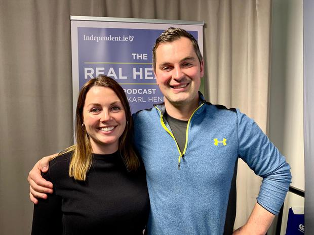 Karl Henry with dietitian Orla Walsh